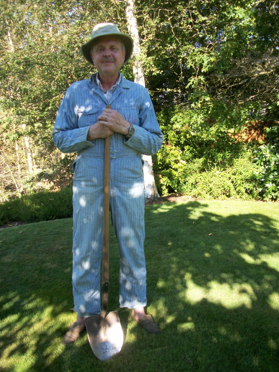 Vic Martens wore the coveralls in this picture during his university days.