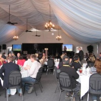Inside the Pavilion tent at St. Eugene's Resort in Cranbrook